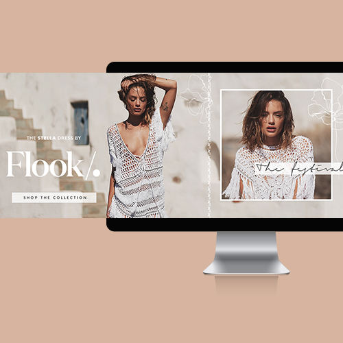 FLOOK THE LABEL WEB BANNER DESIGN | LUNAR STUDIOS